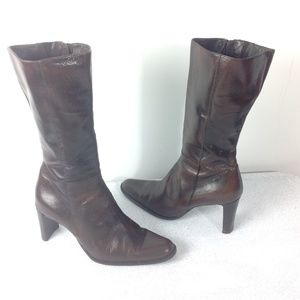 Kenneth Cole Women Boots Brown Size 7.5 Leather